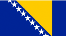 BOSNIA & HERZEGOVINA - HAND WAVING FLAG (MEDIUM)